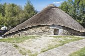Thatched house in O Cebreiro - Galicia Spain