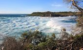 Huge Surf And Turbulent Seas At Jervis Bay