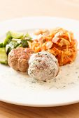 meatballs with cabbage