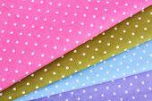 Colorful napkins close-up background
