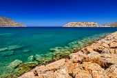 Turquise water of Mirabello bay on Crete, Greece