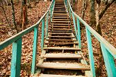 Old Wooden Staircase Outdoor