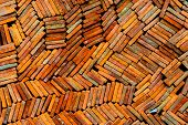 Stack of clay tiles