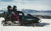 Snowmobiling On Lake Tahoe