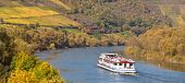 foto of moselle  - Cruise vessel on river moselle - JPG