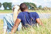 Couple spending time outside