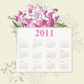 Decorative calendar for 2010