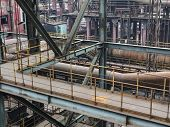 old steel mill structure