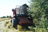 stock photo of combine  - The photo Combine kombain after a serious road accident - JPG