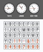 foto of countdown  - Airport arrival table alphabet with characters and numbers for departures - JPG