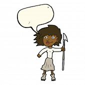 image of spears  - cartoon woman with spear - JPG