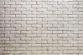 stock photo of stonewalled  - white brick wall - JPG