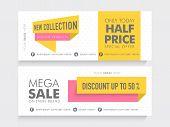 image of 50s  - Mega Sale website header or banner set with 50 - JPG