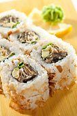 picture of fish skin  - Salmon Skin Maki Sushi  - JPG