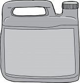 stock photo of generic  - Single isolated generic plastic laundry detergent container - JPG