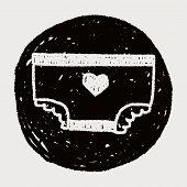 foto of diaper  - Diaper Doodle Drawing - JPG