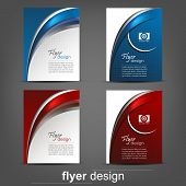 stock photo of cans  - Set of business flyer templates - JPG