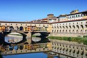 picture of old bridge  - Florence Italy  - JPG