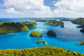 picture of pacific islands  - Beautiful view of Palau islands from above - JPG