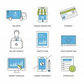 image of analysis  - Flat design modern vector illustration concept for delivery - JPG