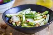 picture of walnut  - Apple with radish and walnut salad by vinaigrette - JPG
