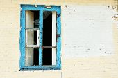 image of abandoned house  - Window in old abandoned house - JPG