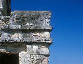 Mayan Building-Male Head In Profile