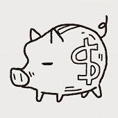 pic of pig  - Doodle Pig Money Bank - JPG
