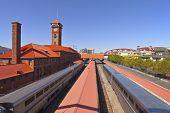 stock photo of portland oregon  - Union Station train station in Portland Oregon - JPG
