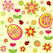 pic of applique  - Easter wallpaper with applique print - JPG