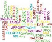 stock photo of tasks  - Background concept wordcloud multilanguage international many language illustration of task - JPG