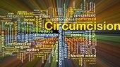 stock photo of circumcision  - Background concept wordcloud illustration of circumcision glowing light - JPG