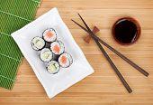 image of soy sauce  - Sushi set - JPG