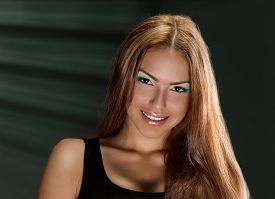 foto of jalousie  - Beautiful Young Woman Face - JPG
