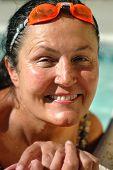 Senior In The Pool
