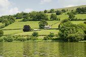 Terras agrícolas no país de Gales