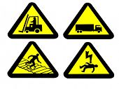 Industrial hazard signs