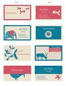 Vector Business Cards (Set of 8)