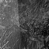 Dark mud, grease painted texture in black and white