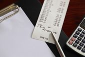 Receipt And Pen