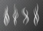 Smoke  From A Cup Of  Hot Coffee Or Tea. poster
