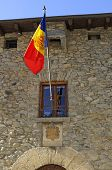 national flag of Andorra at the House of the Valley