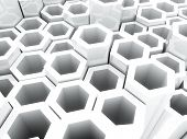 White Frame Hexagons