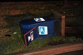 Tempestade danificado de caixa de correio
