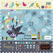 scrapbook elements all you need- fine quality - details and colorful
