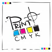 CMYK-Druck-Konzeption