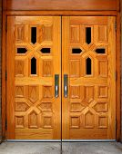 Polished Wooden Church Doors