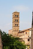Romanic church tower
