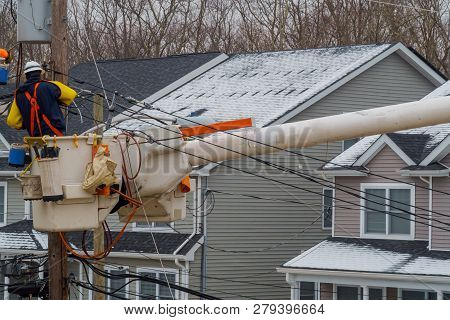Repairing Power Lines After On