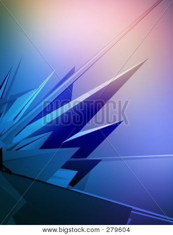 Picture or Photo of 3d background with futuristic shapes.